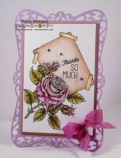 My English Rose Stamp Set   Power Poppy by Marcella Hawley