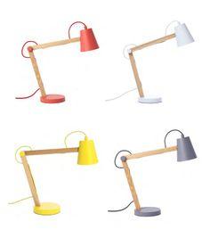Lampada da tavolo in metallo e legno Play - Frandsen