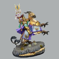 Lord Arcanum on gryph charger. Modelados y escultura, Fantasía, Humanos. Warhammer Paint, Warhammer Aos, Stormcast Eternals, Lord, Samurai, Miniatures, Age, Celestial, Creative