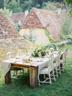 Gorgeous rustic outdoor table styling
