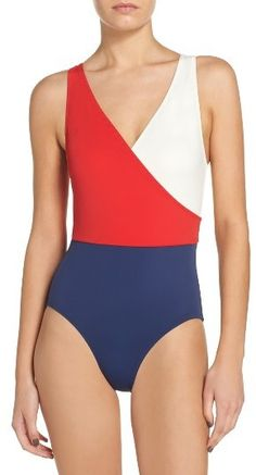 0eafe29092830 Women s Solid  amp  Striped Ballerina One-Piece Swimsuit Swimsuit Shops