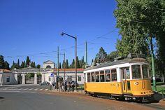 Cemitério dos Prazeres - Lisboa (Portugal) /The terminus of tram route 28 at PRAZERES, the entrance of the cemetery. City Break, Cemetery, Entrance, Cities, World, The World, Lisbon Portugal, Lisbon, Appetizer