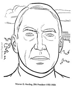 presidents sheets coloring pages us presidents warren harding