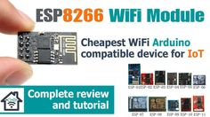 ESP8266 Arduino WiFi module tutorial and review