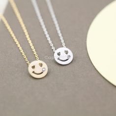 smile necklace in gold or silver