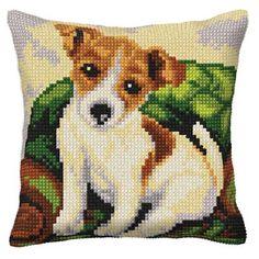 Poduszka Terrier - Kokardka - sklep internetowy - haft krzyżykowy, szydełkowanie, włóczki, robótki na drutach, kanwy, filcowanie, decoupage, robótki ręczne.