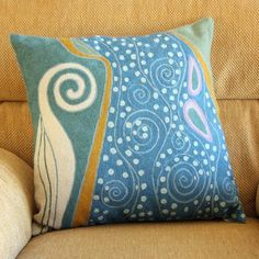 peacock hand crafted wool cushion - Unique styles