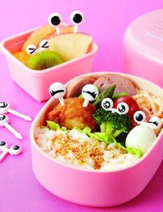 These are called Bento Eyes and they are reusable fruit and food picks for a kid's lunch box. Lots of back to school recipe, snack, and lunch ideas for moms and families.
