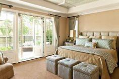 Vintage Master Bedroom Design Open To Terrace With Bedroom Ideas Master On A Budget, Master Bedroom Addition, Master Bedroom Interior, Bedding Master Bedroom, Home Decor Bedroom, Master Bedrooms, Master Suite, Bedroom Balcony, Cozy Bedroom