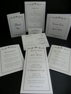Swirl Black Wedding Invitations & Stationery