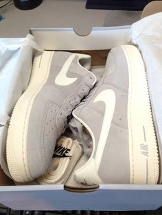 Grey suede Air Force 1's