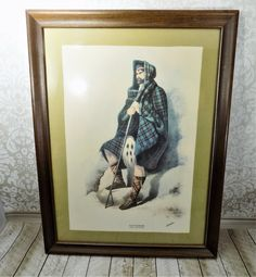 R.R. McIan, Scottish Tartans, Scottish Highlands Clans, Davidson Clan, Lithograph Canvas Print, With Signature, Simpson Bell Edinburgh Print Vintage Candle Holders, Vintage Candles, Scottish Tartans, Scottish Highlands, Etsy Vintage, Vintage Art, Litho Print, Dark Lord, Paper Frames