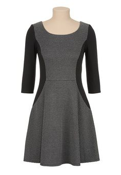 3/4 Sleeve printed dress (original price, $39) available at #Maurices