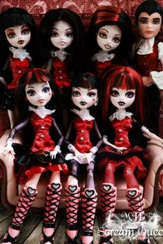 Customized Monster High dolls.