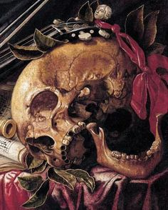 Detail from Vanitas Still-Life Simon Renard de Saint-Andre 17th Century """"
