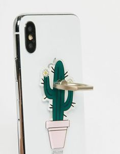 Shop Typo Cactus Phone Ring at ASOS. Cactus Gifts, Flamingo Party, Tech Gadgets, Sloth, Watermelon, Pineapple, Succulents, Gift Cards, Typo