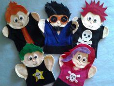 Rock Star Felt Hand Puppets por puppetmaker en Etsy