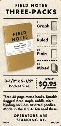 Mmm. . . pocket notebook. . .