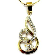 """Stunning Fire Styled Rose Gold Plated Simulated Diamond CZ Pendant with 18"""" Necklace P6356 myCullinan. $24.99. Photo of actual item. Sophisticated Design and Superior Quality. Come with FREE Elegant Ribbon Royal Purple Gift Box. 100%Customer Satisfaction Guarantee. Good affordable price. Best value for money. Save shipping. 1 dollar shipping for each additional item"""