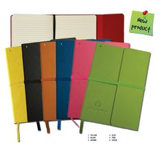 PCA 5970 PERSONAL JOURNAL The pages are book bound to stay firmly in place. includes a stylish ribbon page marker and matching color elastic to close the journal. Notebooks, Journals, Page Marker, New Product, Yellow, Blue, Ribbon, Stylish, Pink