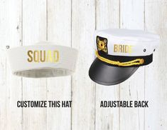 3ffe47967e2 Bride Squad Sailor Hats Nautical Cruise Bachelorette by Eventees Cruise  Wedding