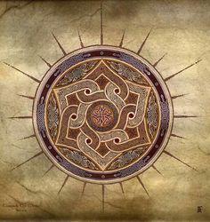 Celtic Shields & Mandalas : Toward the Within by Jeff Fitzpatrick Adams Celtic Symbols, Celtic Art, Celtic Mandala, Celtic Knots, Celtic Quilt, Celtic Patterns, Celtic Designs, Celtic Shield, Estilo Hippie