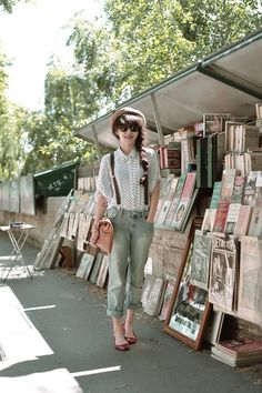 Indie fashion, I need to buy suspenders. Wherever she is looks cool too. Hipster Stil, Moda Hipster, Style Hipster, Fashion Mode, Indie Fashion, Hipster Fashion, Vintage Fashion, Fashion Black, Punk Fashion