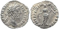 Ancient Coins - Roman coin of Commodus AR silver denarius - PM TRP XIII IMP VIII COS V PP Artemis, Ants, Roman, Coins, Silver, Money, Ant