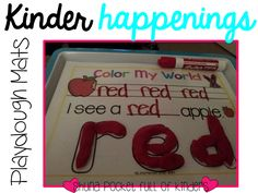Pocket Full of Kinders!: FREEBIE Color Words Playdough mats