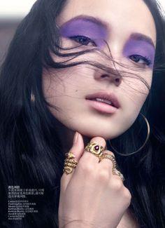 best garage doors ive evar seeeen    Xiao Wen by David Slijper for Vogue China May 2012