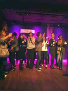 Guests Sang and Danced all night… City Winery NYC DJ and Karaoke Holiday Party.