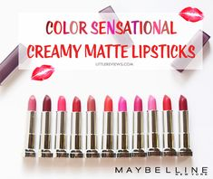 MAYBELLINE COLOR SENSATIONAL CREAMY MATTE LIPSTICKS REVIEW