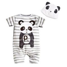 Roupa De Bebe Cartoon Animal Short Sleeve Romper Hat 2PCS Set Summer Baby Boy Clothes Baby Girl Clothing Cow Panda Zebra Lion #>=#>=#>=#>=#> Click on the pin to check out discount price, color, size, shipping, etc. Save and like it!