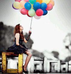 mujeres y globos - Buscar con Google