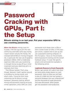Password cracking part I