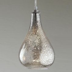 Glass Bulb Pendant - Clear Crackled or Mercury Glass