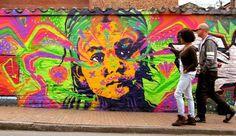 Bogota street art! Aline