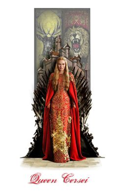 """Queen Cersei Baratheon"" by annette-heathen ❤ liked on Polyvore featuring art, GameOfThrones, housebaratheon, HouseLannister and GOTDolls"