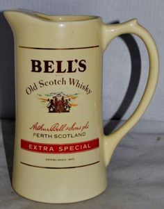 BELL'S Old Scotch Whisky Water Jug by Wade pdm England, in Excellent Condition