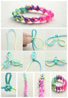 Friendship Bracelets Tutorial, Diy Bracelets Easy, Braided Bracelets, Friendship Bracelet Patterns, Bracelet Tutorial, Bracelet Knots, Bracelet Crafts, Paracord Bracelets, Diy Jewelry