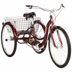 Tricycle Adult Bike Trike 3 Wheel Steer Schwinn Ride New 26 Inch W Basket Easy For Great Deals, Visit http://www.ebay.com/usr/usa-select-commerce #Tricycle #AdultTricycleBike #AdultBike #3WheelBike #Schwinn #AdultRide #TricycleWithBasket #Tryke