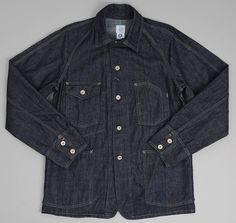 POST OVERALLS: Engineer's Jacket, 10oz Indigo Denim