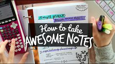 How to Take Awesome Notes! Creative Note-Taking Hacks - YouTube
