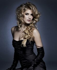 Beautiful Prom Hairstyle With Volume Ringleted