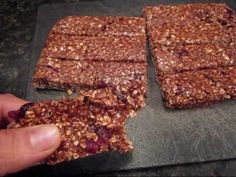 (43) Healthiest Homemade Protein Bar Yet - YouTube