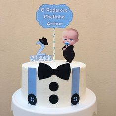 Baby Birthday Themes, Boss Birthday, Baby Boy 1st Birthday Party, Baby Birthday Cakes, Baby Girl Shower Themes, Baby Boy Cakes, Construction Party Cakes, Foto Baby, Samara