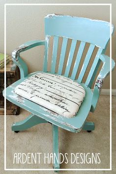 Before & After >> Antique Office Chair