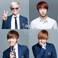 BTS Rapmonster, Jin, J-Hope & V