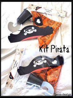 Favas Design: Festa Pirata Sophia _ Parte II_ roupa customizada, kits pirata, e lembrancinhas