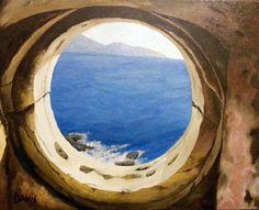 Kefallonia lighthouse internan oil on canvas 40 x 60 cm